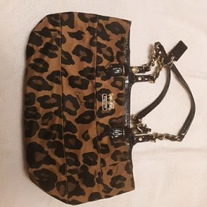 Coach limited edition  leopard bag.. Nordstrom